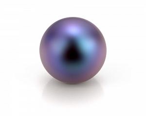 Жемчужина черная идеально круглая 8,5-9 мм. Качество наивысшее