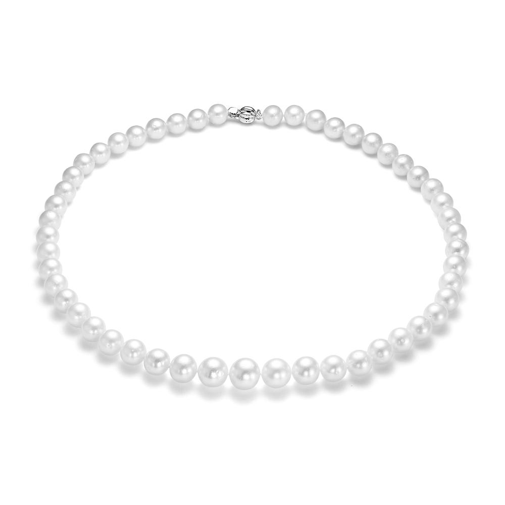 Ожерелье из белого круглого морского Австралийского жемчуга 8,1-10,6 мм