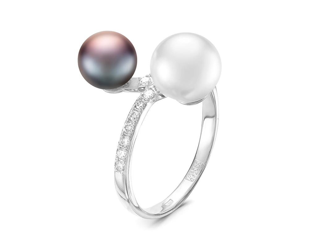 """Кольцо из серебра с речными жемчужинами """"микс"""" 6-8 мм"""