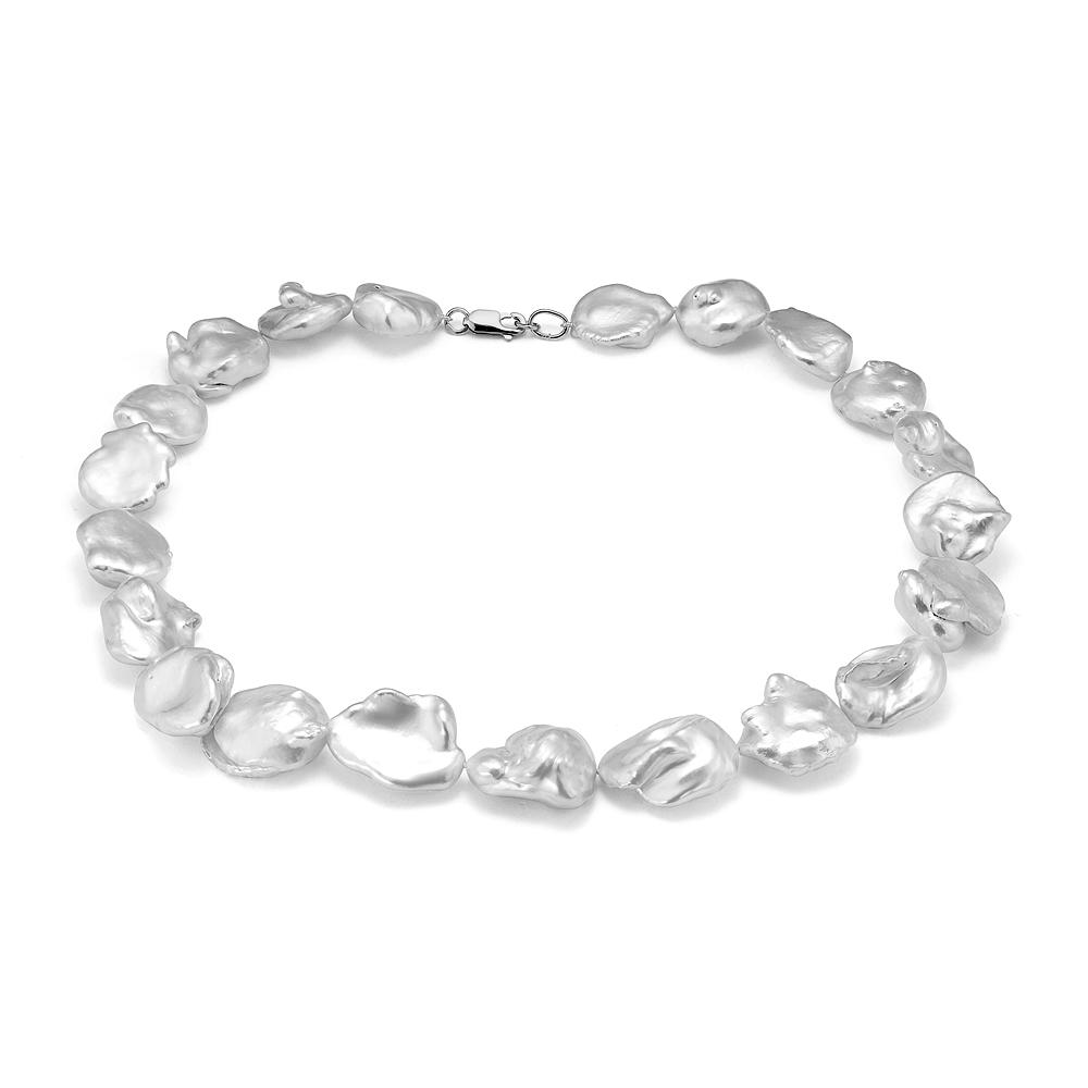 Ожерелье из белого барочного речного жемчуга. Жемчужины 15-20 мм