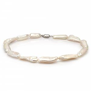 Ожерелье из белого барочного речного жемчуга. Жемчужины 14-16 мм