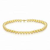 Ожерелье из золотого морского жемчуга Акойя (Япония). Жемчужины 8,5-9 мм