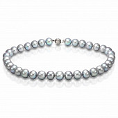 Ожерелье из серебристого морского жемчуга (Южный Китай). Жемчужины 10,5-11 мм