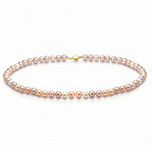 """Ожерелье """"микс"""" из розового морского жемчуга (Южный Китай). Жемчужины 7-7,5 мм"""