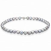 Ожерелье из серого рисообразного жемчуга. Жемчужины 10-11 мм