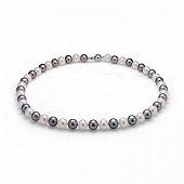 "Ожерелье ""микс"" из круглого речного жемчуга. Жемчужины 8,5-9,5 мм"