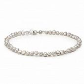 Ожерелье из серого барочного речного жемчуга. Жемчужины 8-8,5 мм