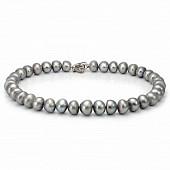 Ожерелье из серого барочного речного жемчуга. Жемчужины 12-14 мм