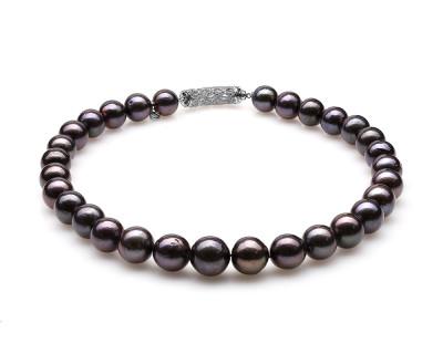 Ожерелье из 30 жемчужин из черного японского речного жемчуга. Жемчужины 12-15 мм