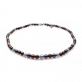 """Ожерелье """"микс"""" из цветного морского жемчуга (Южный Китай). Жемчужины 4,5-8,5 мм"""