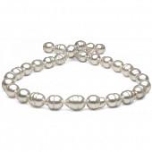 Ожерелье из белого барочного морского Австралийского жемчуга 11-13 мм