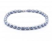 Ожерелье из 30 жемчужин из серого речного каплевидного жемчуга. Жемчуг 10-11 мм
