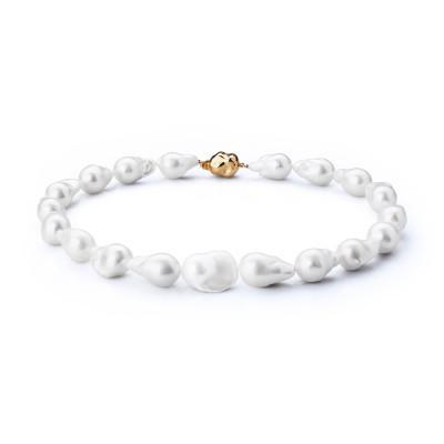 Ожерелье из белого барочного речного жемчуга. Жемчужины 13-16 мм