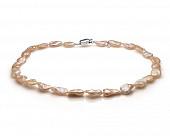 Ожерелье из розового барочного речного жемчуга. Жемчужины 10-13 мм