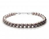 Ожерелье из 30 жемчужин из серебристого речного жемчуга. Жемчужины 11,5-15 мм