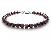 Ожерелье из 30 жемчужин из черного японского речного жемчуга. Жемчужины 13-16 мм