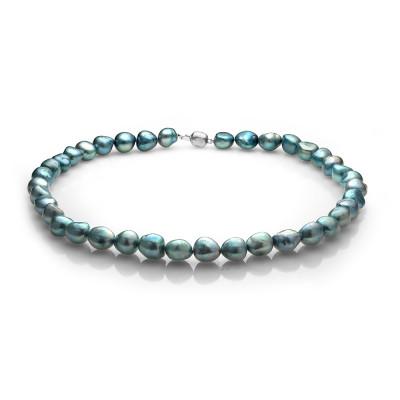 Ожерелье из голубого барочного речного жемчуга. Жемчужины 11-12 мм