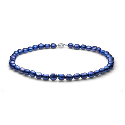 Ожерелье из синего барочного речного жемчуга. Жемчужины 11-12 мм