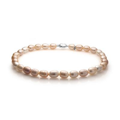 """Ожерелье """"микс"""" из розового барочного речного жемчуга. Жемчужины 11-12 мм"""