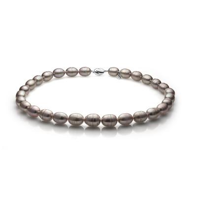 Ожерелье из серого барочного речного жемчуга. Жемчужины 11-12 мм