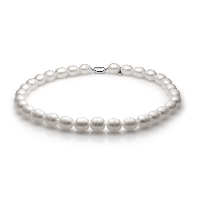 Ожерелье из белого барочного речного жемчуга. Жемчужины 11-12 мм