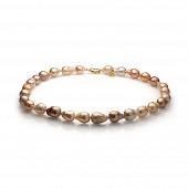 """Ожерелье """"микс"""" из розового барочного речного жемчуга. Жемчужины 10-12 мм"""