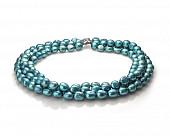 Ожерелье в 3 ряда из голубого барочного речного жемчуга. Жемчужины 11-12 мм