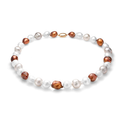 """Ожерелье """"микс"""" из барочного речного жемчуга. Жемчужины 13-16 мм"""
