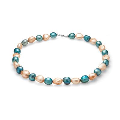 """Ожерелье """"микс"""" из речного барочного жемчуга. Жемчужины 11-12 мм"""