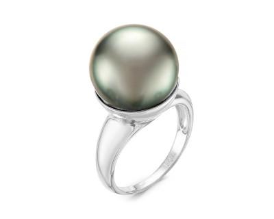 """Кольцо """"Дар Океана"""" из белого золота с морской Таитянской жемчужиной 15-15,5 мм"""