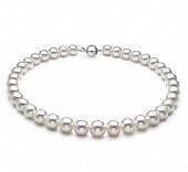 Ожерелье из белого круглого морского Австралийского жемчуга 9-11,1 мм