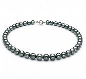 Ожерелье из серебристого круглого морского Таитянского жемчуга 10,3-12,7 мм
