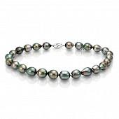 Ожерелье из черного барочного морского Таитянского жемчуга 12-14 мм