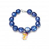 """Детский браслет. Синий жемчуг """"Барокко"""" размером 11-12 мм"""