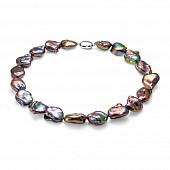 Ожерелье из черного барочного речного жемчуга. Жемчужины 16-20 мм