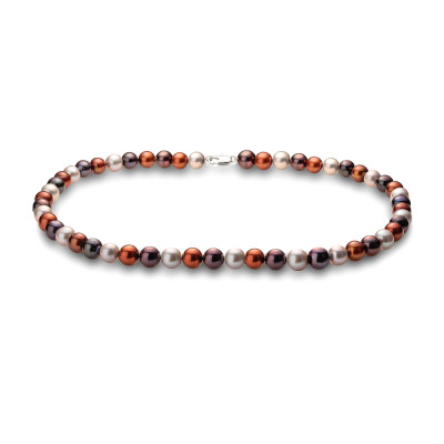 "Ожерелье ""микс"" из круглого речного жемчуга. Жемчужины 7-7,5 мм"
