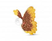 """Брошь """"Бабочка"""" из сплава с белой речной жемчужиной 12,4 мм"""