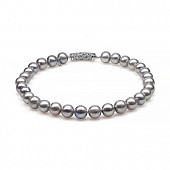 Ожерелье из 30 жемчужин из серебристого речного жемчуга. Жемчужины 11,5-14 мм