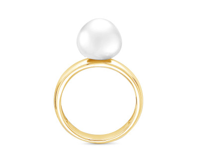 Кольцо из серебра с белой морской Австралийской жемчужиной 11-11,5 мм