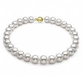 Ожерелье из белого круглого морского Австралийского жемчуга 11-13,7 мм