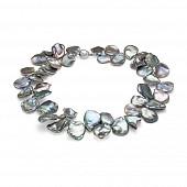 """Ожерелье из серого барочного речного жемчуга """"Кеши"""". Жемчужины 15 мм"""