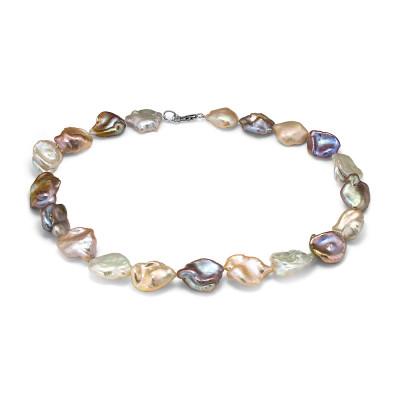 """Ожерелье """"микс"""" из розового барочного речного жемчуга. Жемчужины 15-20 мм"""