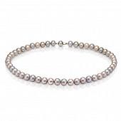Ожерелье из серебристого морского жемчуга (Южный Китай). Жемчужины 7,5-8 мм