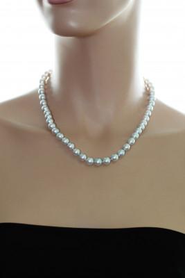 Ожерелье из серебристого морского жемчуга Акойя (Япония). Жемчужины 7,5-8 мм