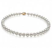 Ожерелье из белого круглого морского Австралийского жемчуга 10-12,1 мм