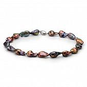 Ожерелье из черного барочного речного жемчуга. Жемчужины 13-19 мм