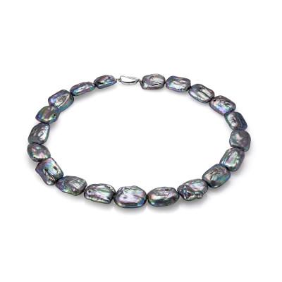 Ожерелье из черного барочного речного жемчуга. Жемчужины 15 мм