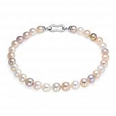 "Ожерелье ""микс"" из 30 жемчужин из розового речного жемчуга. Жемчуг 11,5-13 мм"