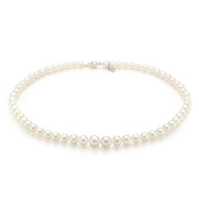 Ожерелье из белого морского жемчуга (Южный Китай). Жемчужины 4-8,5 мм