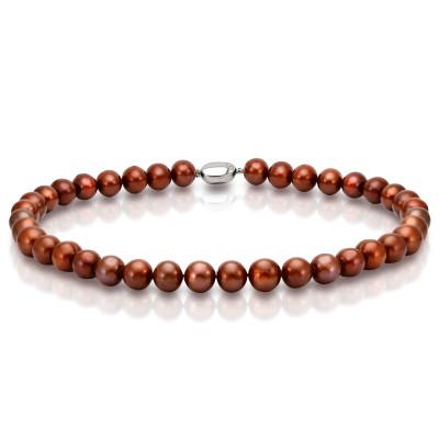 Ожерелье из шоколадного морского круглого жемчуга (Южный Китай). Жемчужины 10-11 мм